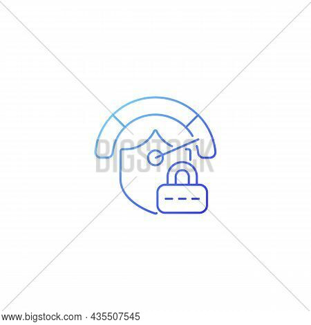 Strong Password Gradient Linear Vector Icon. Safeguard For Confidential Data. Secure System. Passwor