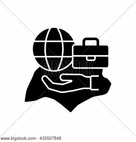 Flexible Labor Law Black Glyph Icon. Singapore Employment Act. Flexible Work Arrangements. Working C