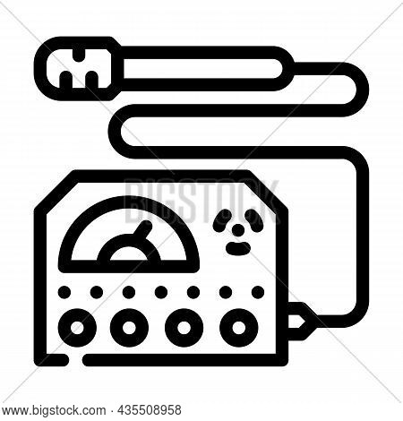 Electromagnetic Wave Meter Line Icon Vector. Electromagnetic Wave Meter Sign. Isolated Contour Symbo