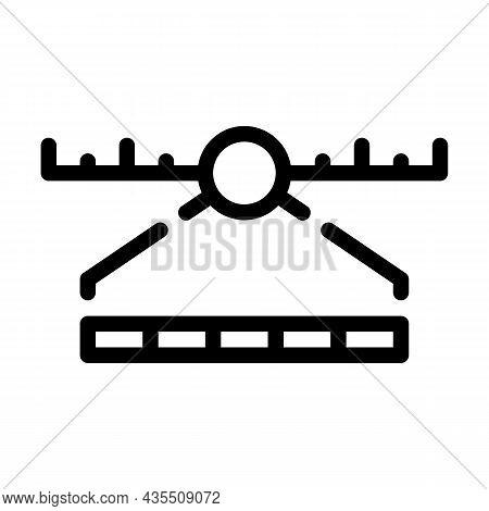Spectrum Range Electromagnetic Line Icon Vector. Spectrum Range Electromagnetic Sign. Isolated Conto
