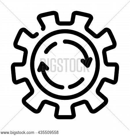 Cogwheel Erp Line Icon Vector. Cogwheel Erp Sign. Isolated Contour Symbol Black Illustration