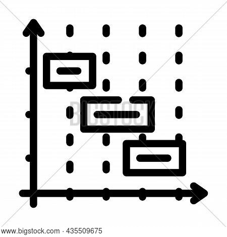 Time Intervals Erp Line Icon Vector. Time Intervals Erp Sign. Isolated Contour Symbol Black Illustra