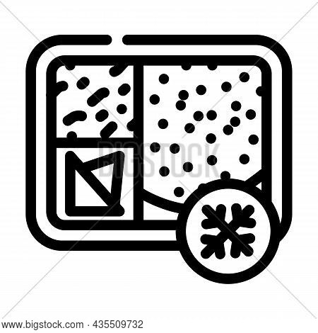 Frozen Lunch Line Icon Vector. Frozen Lunch Sign. Isolated Contour Symbol Black Illustration