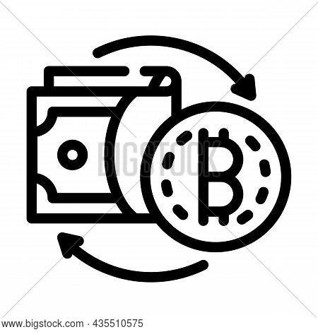 Money Exchange Cryptocurrency Globalization Line Icon Vector. Money Exchange Cryptocurrency Globaliz