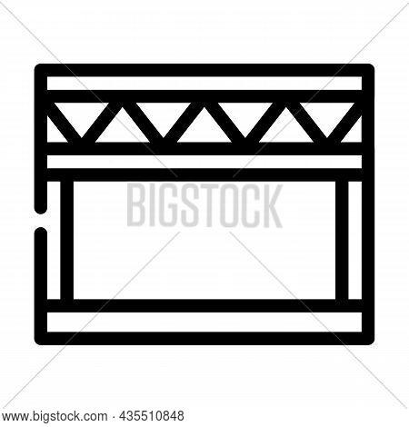 Stage Metal Frame Line Icon Vector. Stage Metal Frame Sign. Isolated Contour Symbol Black Illustrati