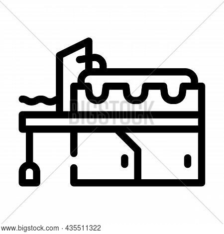 Metal Production Industry Equipment Line Icon Vector. Metal Production Industry Equipment Sign. Isol
