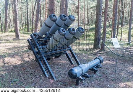 Hel, Poland - July 20, 2021: Anti-submarine Mortar Rgb-25 At Museum Of Coastal Defence.