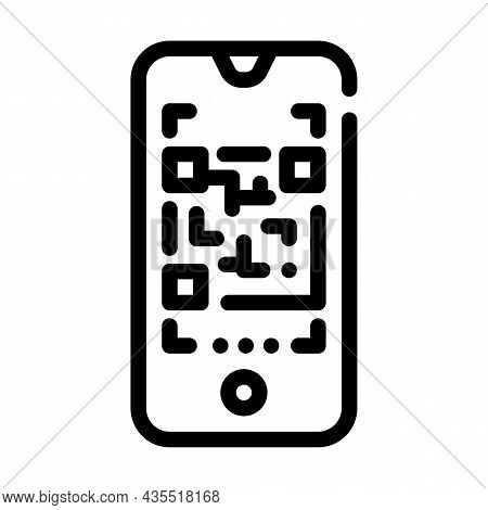 Qr Code Scanner Line Icon Vector. Qr Code Scanner Sign. Isolated Contour Symbol Black Illustration
