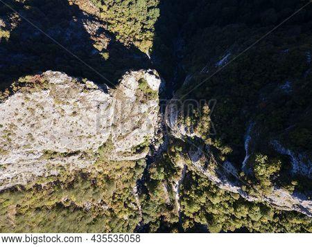 Aerial View Of Erma River Gorge Near Town Of Tran, Bulgaria