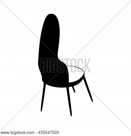 Chair, Office Chair Doodle Vector Black And White