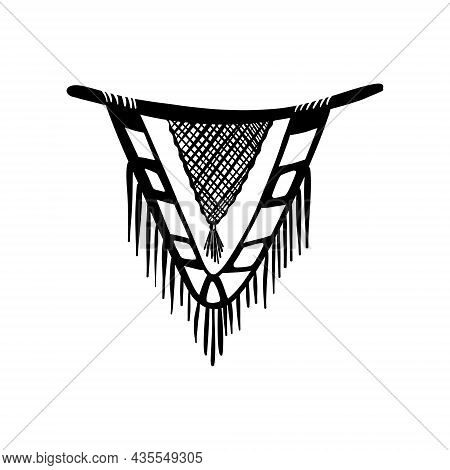 Vector Cute Macrame Illustration In Boho Style