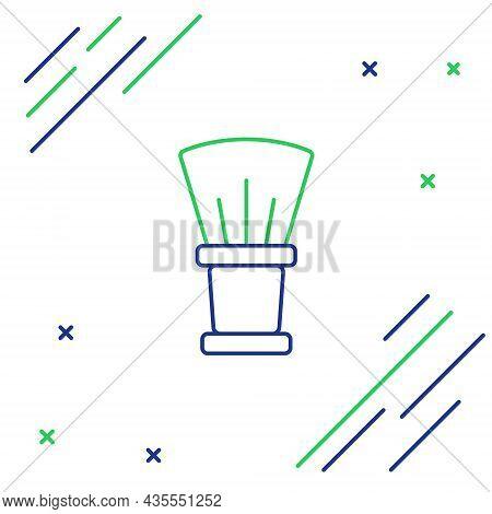 Line Shaving Brush Icon Isolated On White Background. Barbershop Symbol. Colorful Outline Concept. V