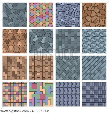 Paving Stone, Street Landscape Pavements Brick Architectural Elements. Walkway Stones, Landscape Str