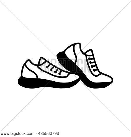 A Pair Of Shoes Isolated Icon, Sneaker Icon Or Logo Isolated Sign Symbol Vector Illustration, High-q