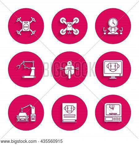 Set Robot, User Manual, 3d Printer, Bot, Industrial Machine Robotic Robot Arm Hand, Factory, Digital
