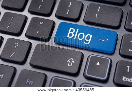 Blog Concepts, Message On Keyboard