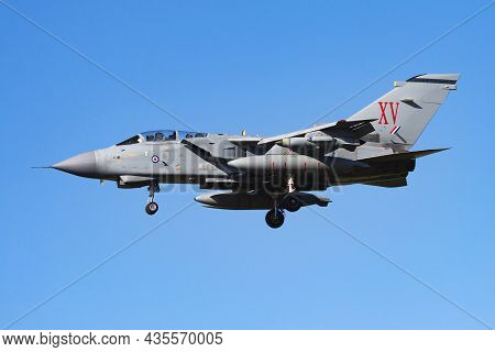 Kecskemet, Hungary - August 2, 2013: Military Fighter Jet Plane At Air Base. Air Force Flight Operat