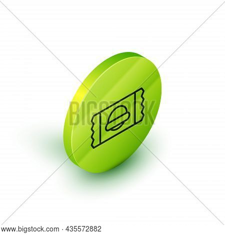 Isometric Line Sports Nutrition Bodybuilding Proteine Power Drink And Food Icon Isolated On White Ba