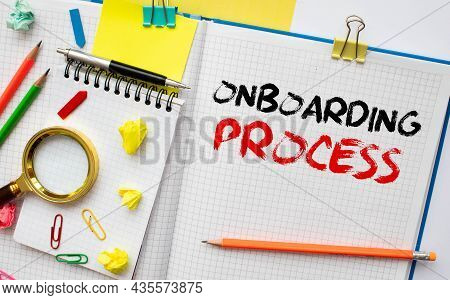 Word Writing Text Onboarding. Business Concept For Action Process Of Integrating A New Employee Into