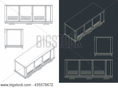 Outdoor Cabinet For Industrial Cooling Systems Blueprints