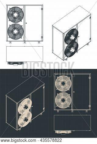 Outdoor Unit Of Air Conditioner Blueprints