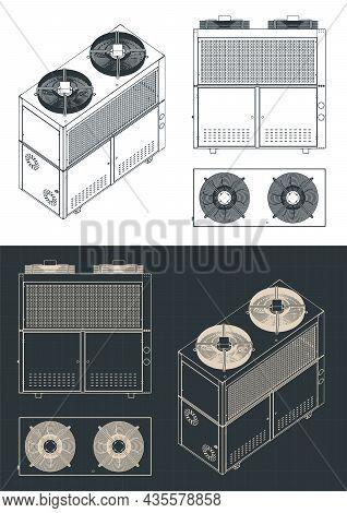 Outdoor Unit Of Industrial Air Conditioner Blueprints