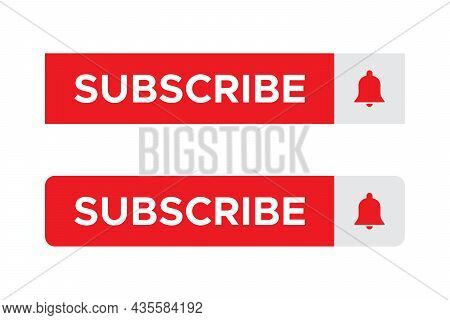 Subscribe Button Icon Vector for Streaming Channel Subscriptions