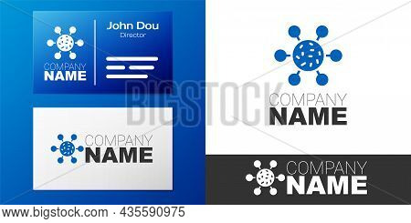 Logotype Bacteria Icon Isolated On White Background. Bacteria And Germs, Microorganism Disease Causi