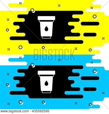 White Water Filter Cartridge Icon Isolated On Black Background. Vector