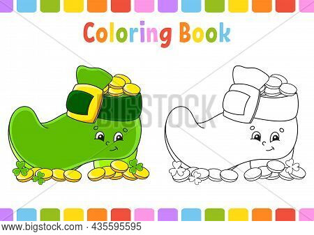 Coloring Book For Kids. St. Patricks Day. Cartoon Character. Vector Illustration. Fantasy Page For C