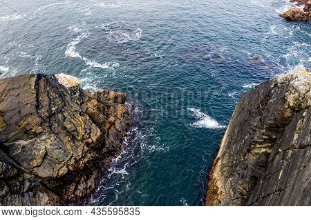 Aerial View Of The Coastline At Dawros In County Donegal - Ireland