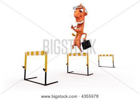 Manager Hurdles Jump