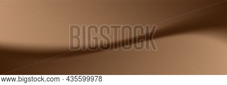 Luxury Smooth Wave Brown Background, Brown Fabric Soft Texture For Background, Rippled Brown Silk Wa
