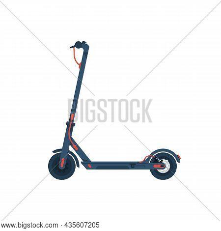 Electric Scooter. Cartoon Flat Icon. Kick Scooter. Environmental Alternative Transport. Modern Urban
