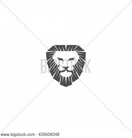 Lion Head  Illustration Emblem Mascot Design Template