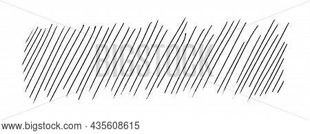 Diagonal Lines. Hand-drawn Smooth Doodle Strokes. Horizontal Background Texture Isolated On White.