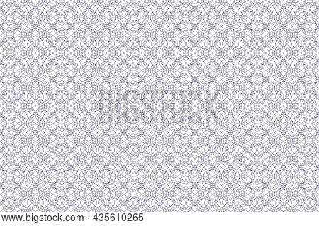 Vector Graphic Of Seamless Decorative Pattern. Vector Certificate Texture. Watermark Banknote Patter