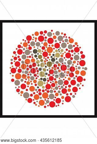 Vector Graphic Of Ishihara Color Test Or Color Blind Test Design. The Letter Y Cunningly Hid Inside