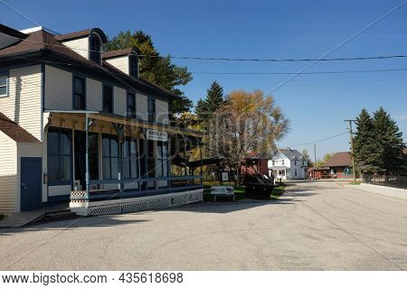 JAMESTOWN, NORTH DAKOTA - 3 OCT 2021: The General Store on Louis L'Amour Lane in Frontier Town.