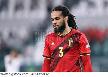 Torino, Italy. 7 October. Jason Denayer Of Belgium  Looks On During The Uefa Nations League Semi-fin