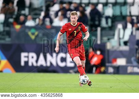 Torino, Italy. 7 October. Kevin De Bruyne Of Belgium  Controls The Ball During The Uefa Nations Leag