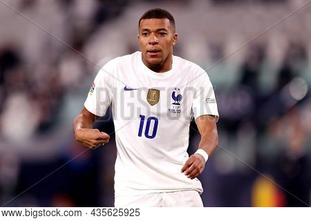 Torino, Italy. 7 October. Kylian Mbappe Of France  Looks On During The  Uefa Nations League Semi-fin