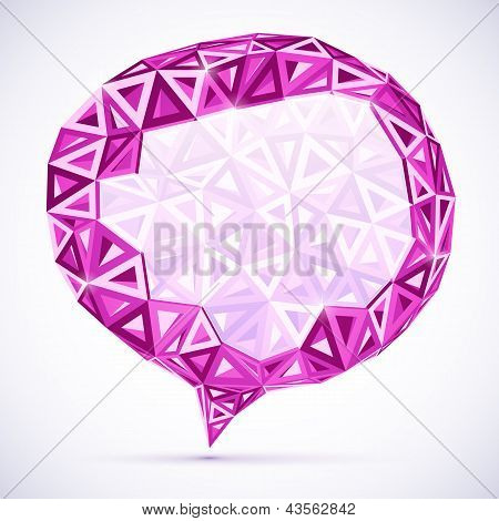 Abstract triangles idea bubble with place for your text poster
