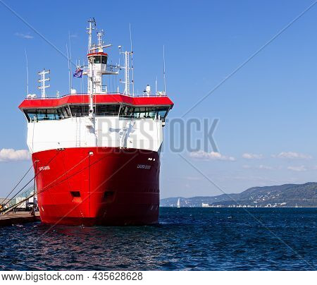 Trieste, Italy - October, 09:  The Vessel Laura Bassi  Is A Research Vessel Built In 1995 And Curren