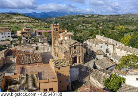 Church Of Our Lady Of The Rosary, Of Baroque Mudejar Architecture Style, In The Small Town Of Ambel,