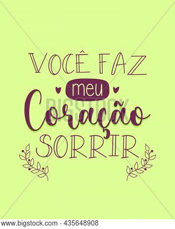 Love Phrases In Portuguese. Translation From Portuguese: