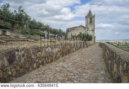 Santiago Church, Now Roman Theatre Visitor Centre. Outdoors View, Medellin, Extremadura, Spain