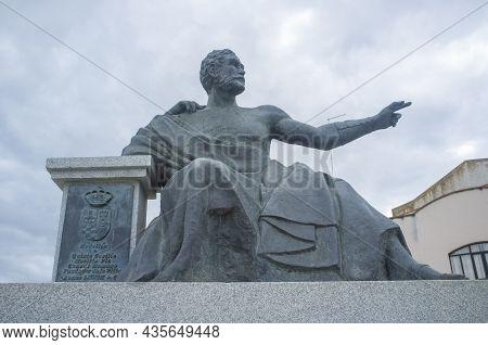 Medellin, Spain - April 28th, 2018: Quintus Caecilius Metellus Pius, Founder Of Medellin In 79 Bc, E