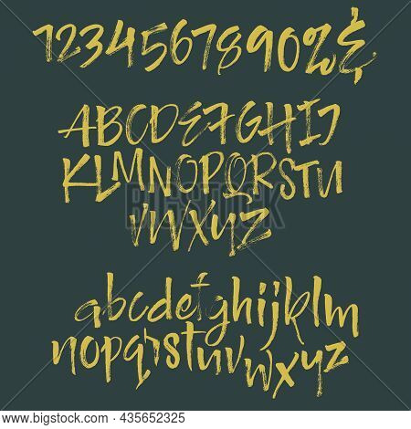 Alphabet Letters: Lowercase, Uppercase, Numbers. Vector Alphabet. Hand Drawn Letters. Letters Of The