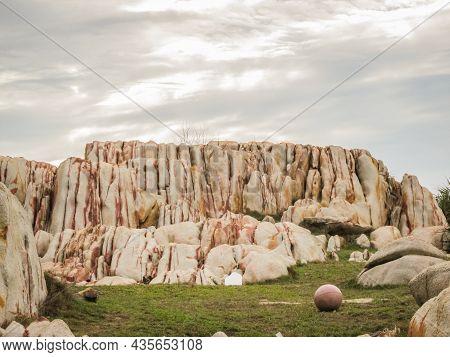 The Granite Rocks On The Coastline Near Ke Ga Lighthouse, Binh Thuan Province, Vietnam